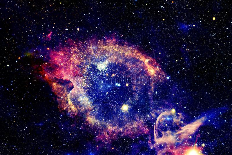 Bright galaxy with stars in outer space. Elements of this image furnished by NASA royalty free stock photos
