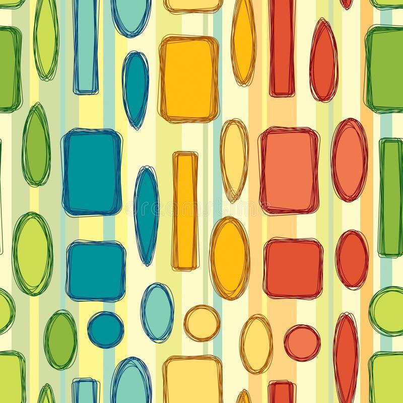 Bright geometrical figures vector illustration