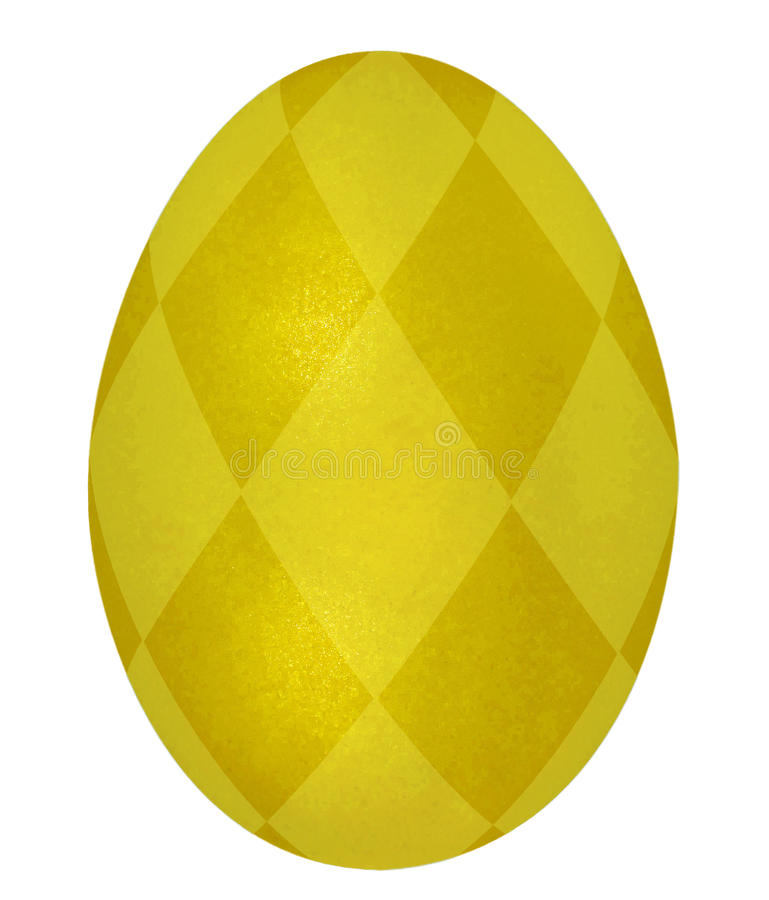Bright gold easter egg stock photos