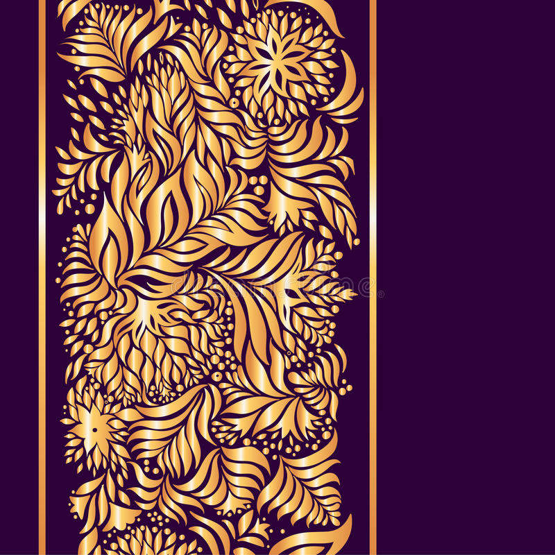 Free Bright Gold Pattern On A Purple Background Royalty Free Stock Photography - 68575917