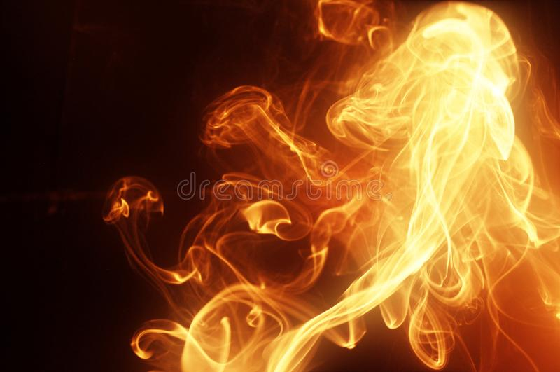 Bright golden smoke royalty free stock photos