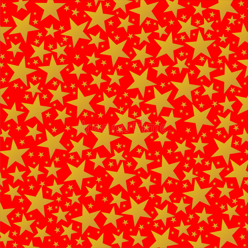 Free Bright Golden Stars On The Red Background Royalty Free Stock Photos - 4427108