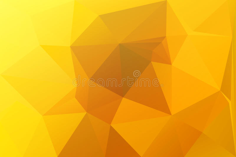 Bright golden yellow low poly background stock illustration
