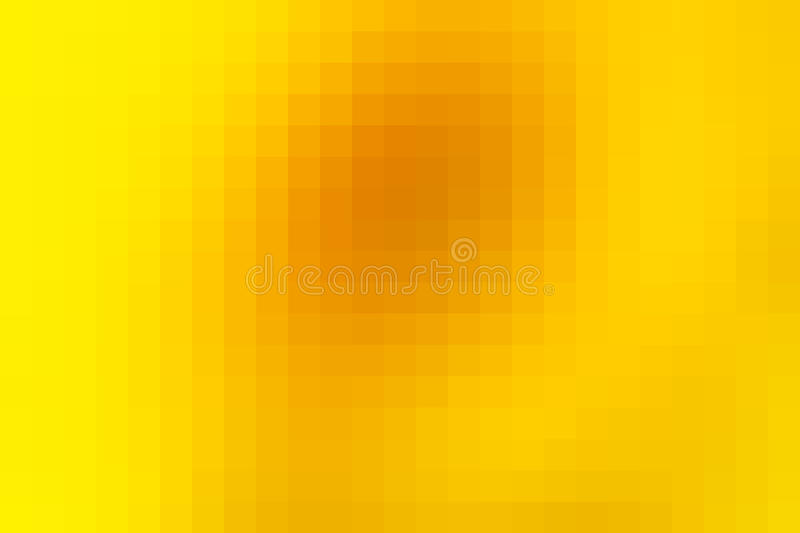 Bright golden yellow mosaic square tiles background royalty free illustration