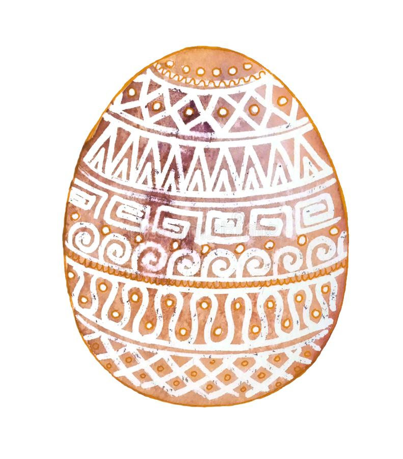 Easter egg with white ornaments on yellow background11 vector illustration
