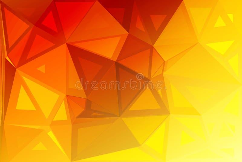 Bright golden yellow random sizes low poly background stock illustration