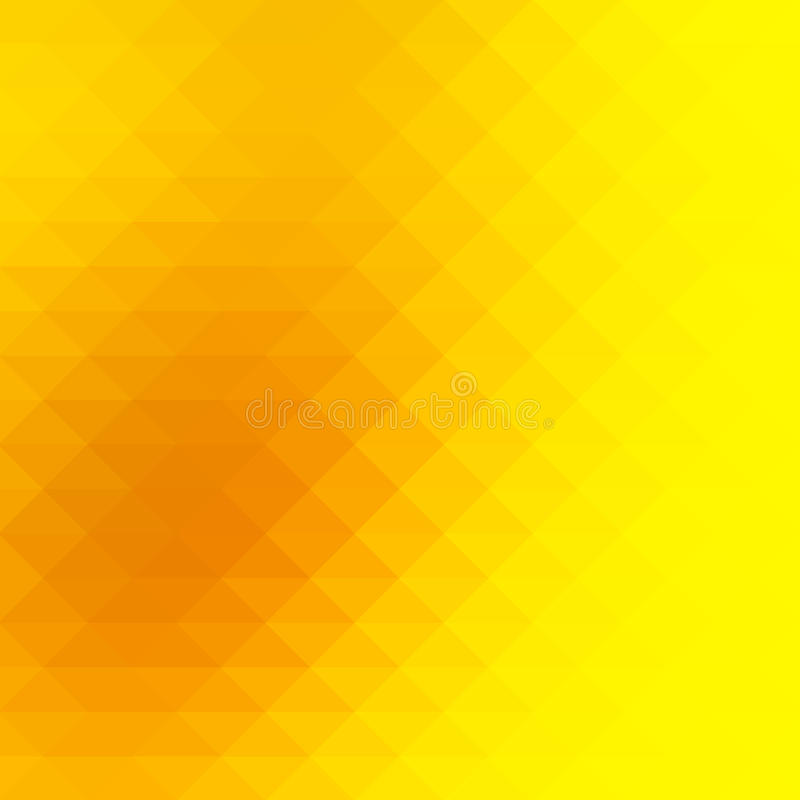 Bright golden yellow rows of triangles background, square royalty free illustration