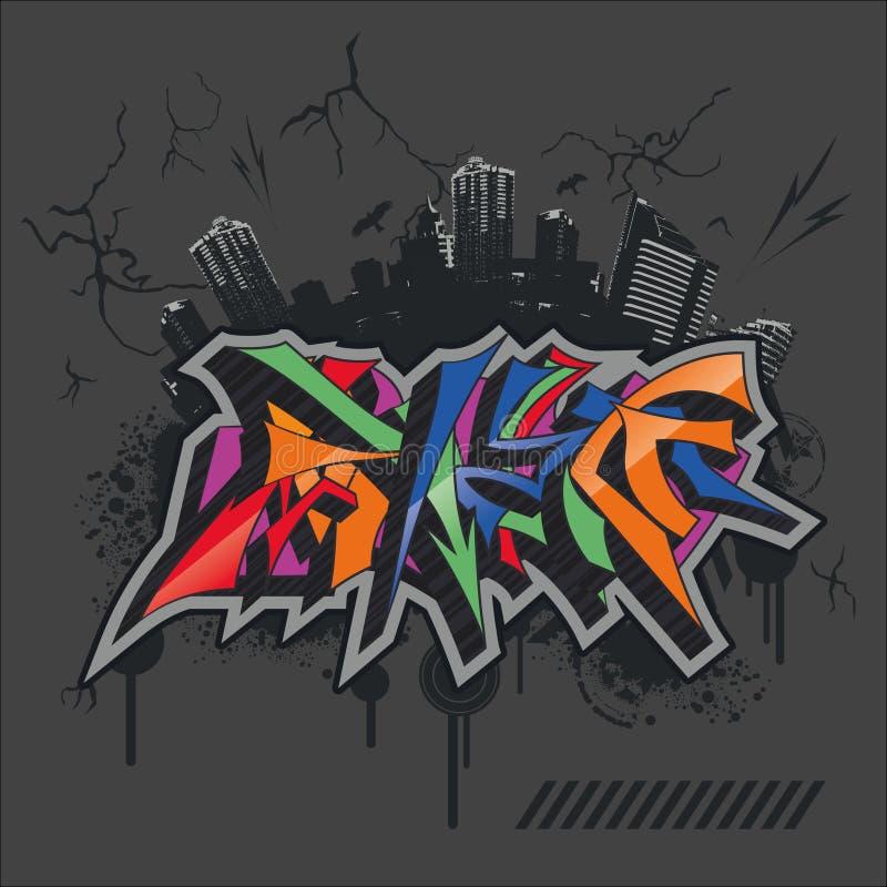 Bright graffiti stock photo