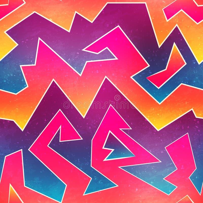 Bright graffiti seamless pattern royalty free illustration
