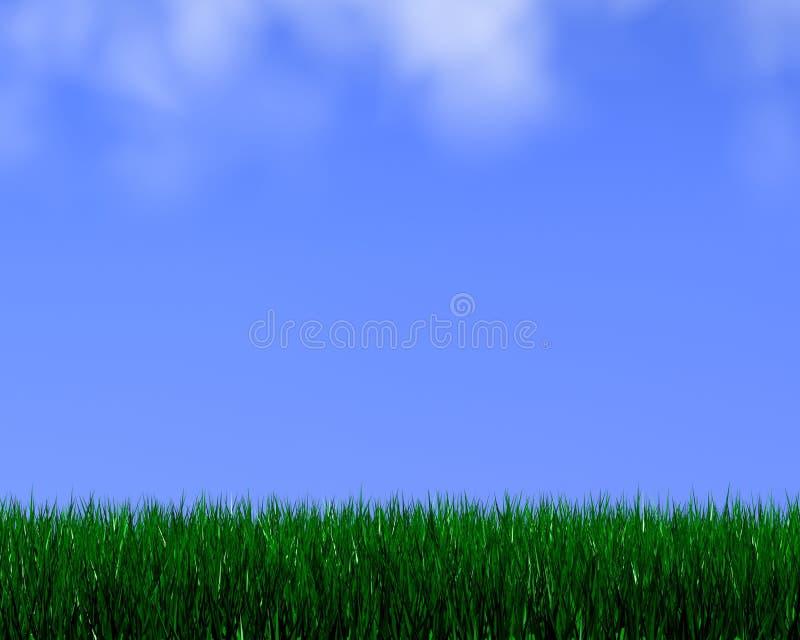 Bright grass stock illustration