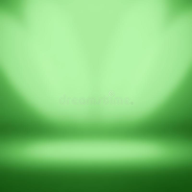 Bright green background empty room studios royalty free stock image