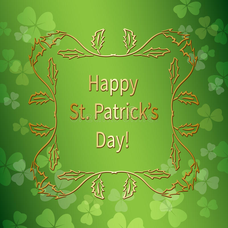 Bright green background for st patrick`s day - vector gradient stock illustration