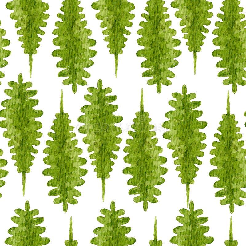 Bright green big fern leaves pattern stock image