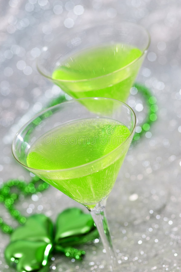 Bright Green Cocktails stock images