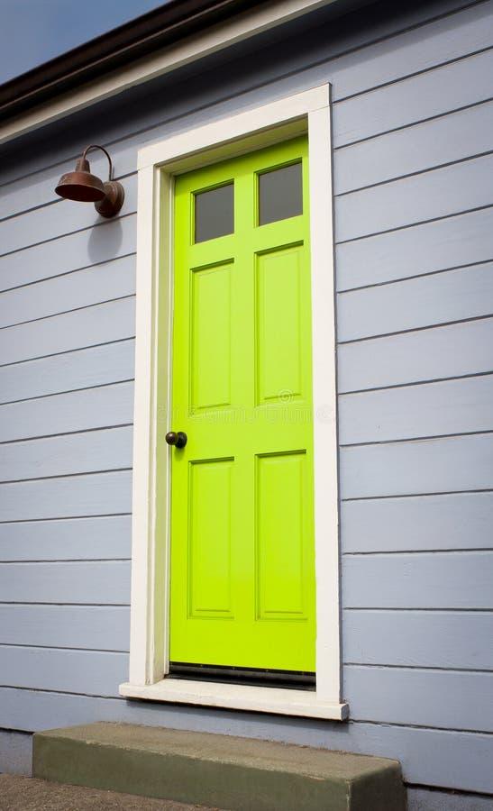 Bright Green Door royalty free stock photos