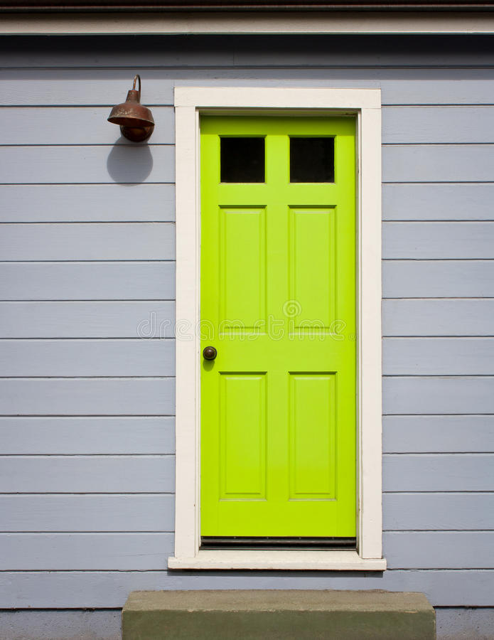 Download Bright Green Door stock image. Image of front, bright - 26515245