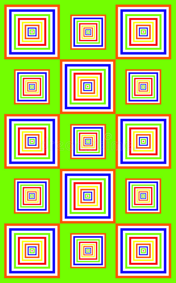 Download Funky green squares stock illustration. Illustration of vibrant - 10800053