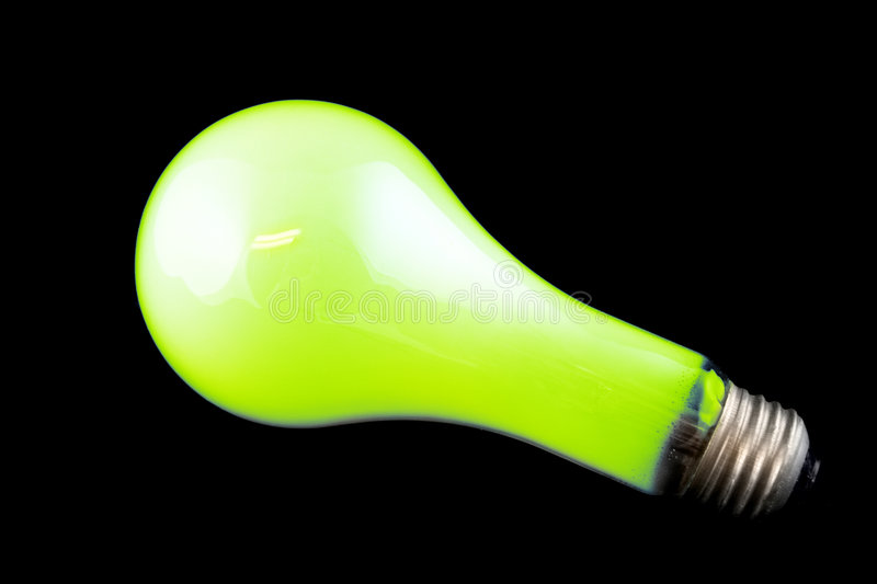 Download Bright Green Light Bulb stock photo. Image of lamp, idea - 1642466