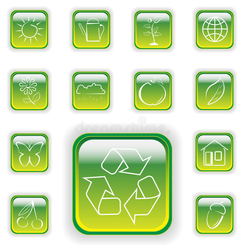 Download Bright Green Plant Buttons Royalty Free Stock Photography - Image: 11439747