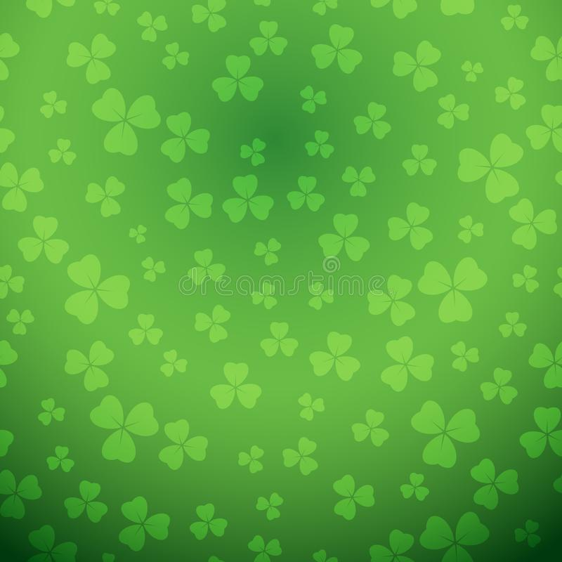 Bright green saint patrick vector background with gradient vector illustration