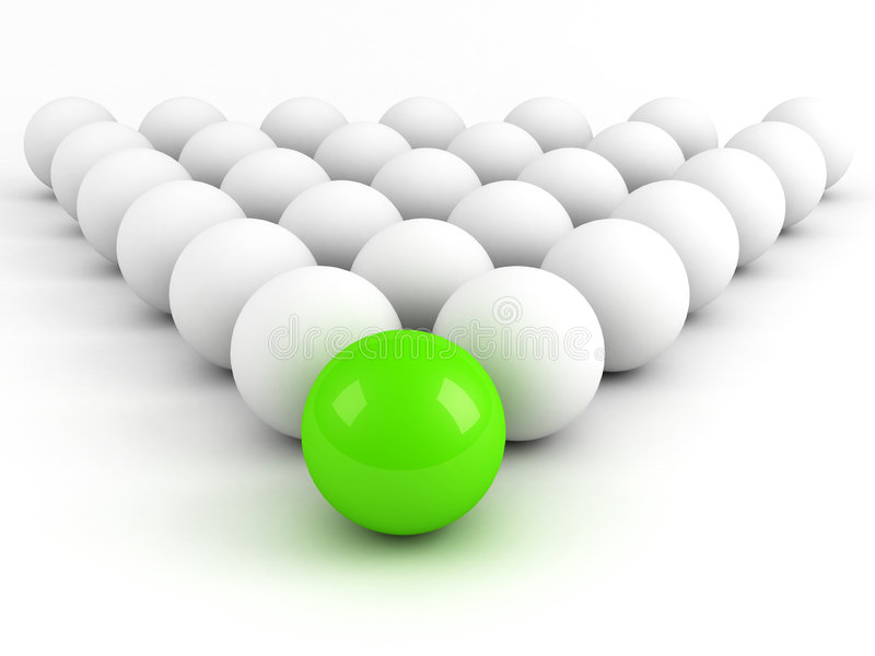 Bright green sphere stock illustration