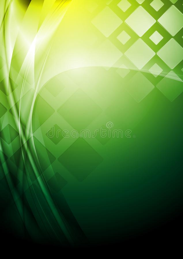 Bright Green Tech Background. Vector Stock Image