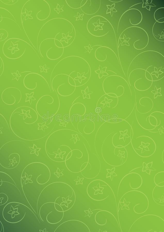 Bright green vector floral background a4 format with gradient stock illustration