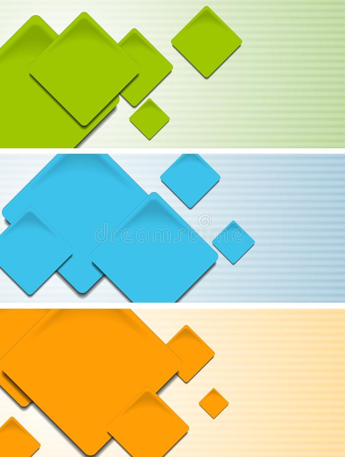 Bright hi-tech baners. Vector template