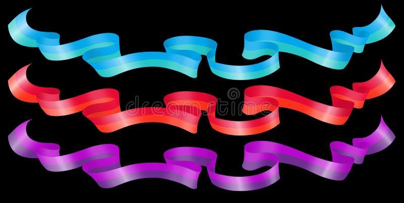 Download Bright Horizontal Ribbons stock illustration. Image of ribbon - 26907250