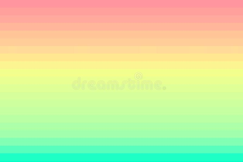 Bright horizontal striped background. Glitch texture.  stock illustration