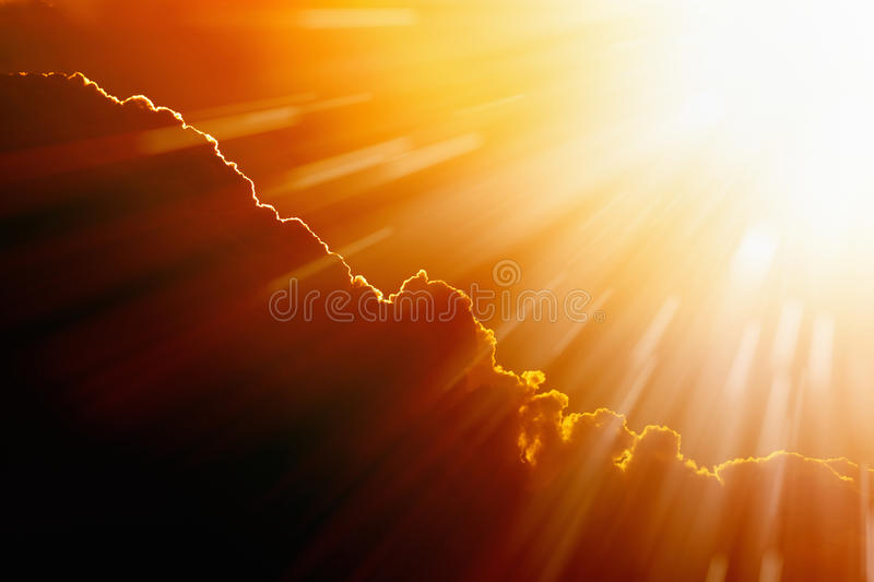 Bright hot sun stock images