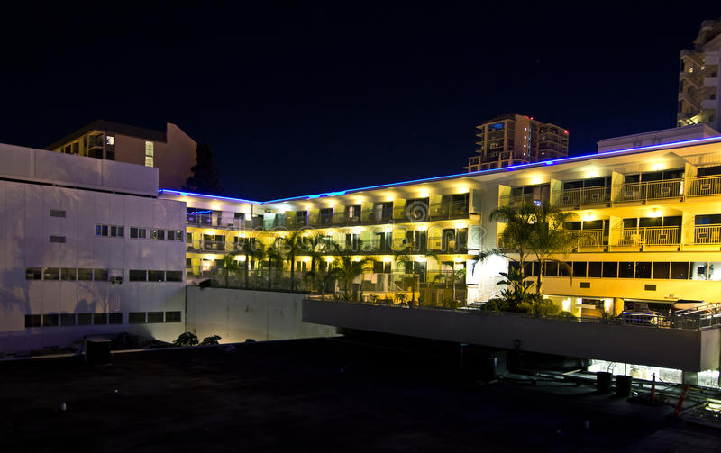 Download Bright Hotel Complex At Night Stock Image - Image: 26611483