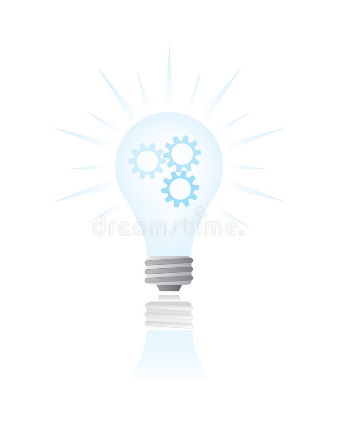 Bright idea royalty free illustration