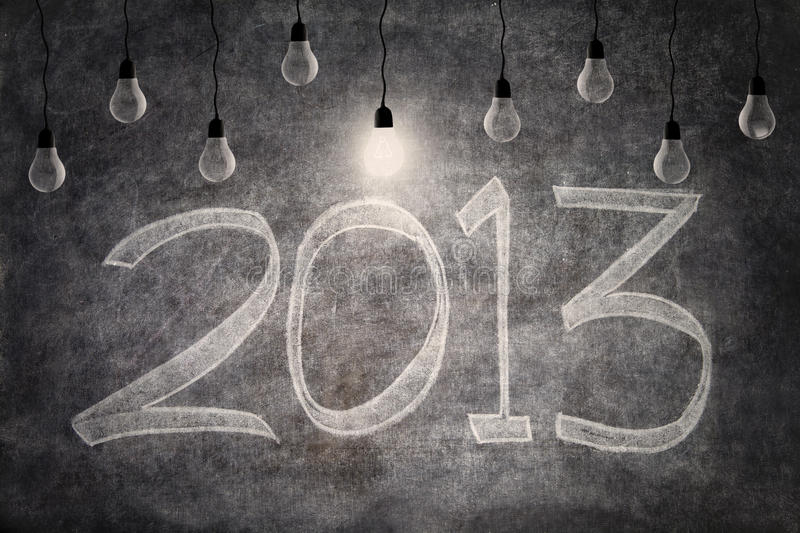 Download Bright Ideas In 2013 With Light Bulbs Stock Illustration - Image: 27920164
