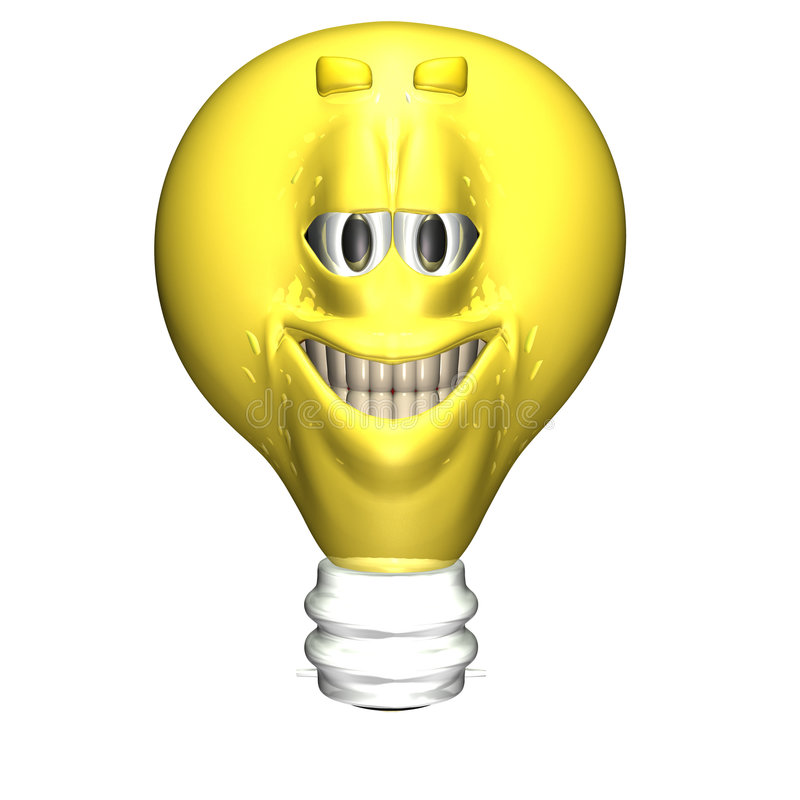 Free Bright Ideas Smiley 2 Royalty Free Stock Photography - 861577
