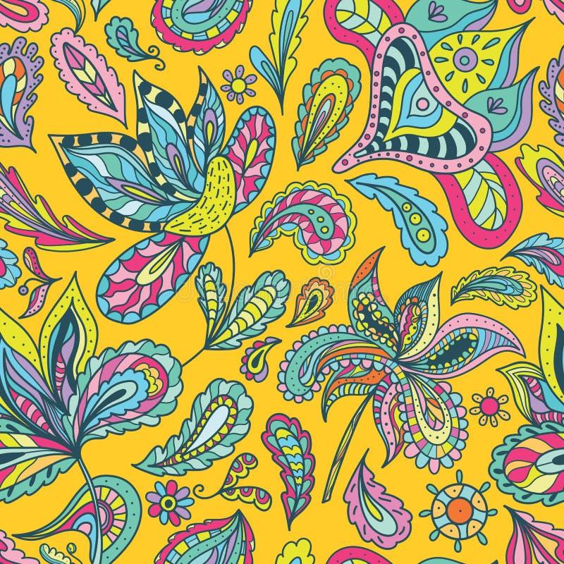 bright indian summer pattern stock vector illustration of decor flower 52179096. Black Bedroom Furniture Sets. Home Design Ideas