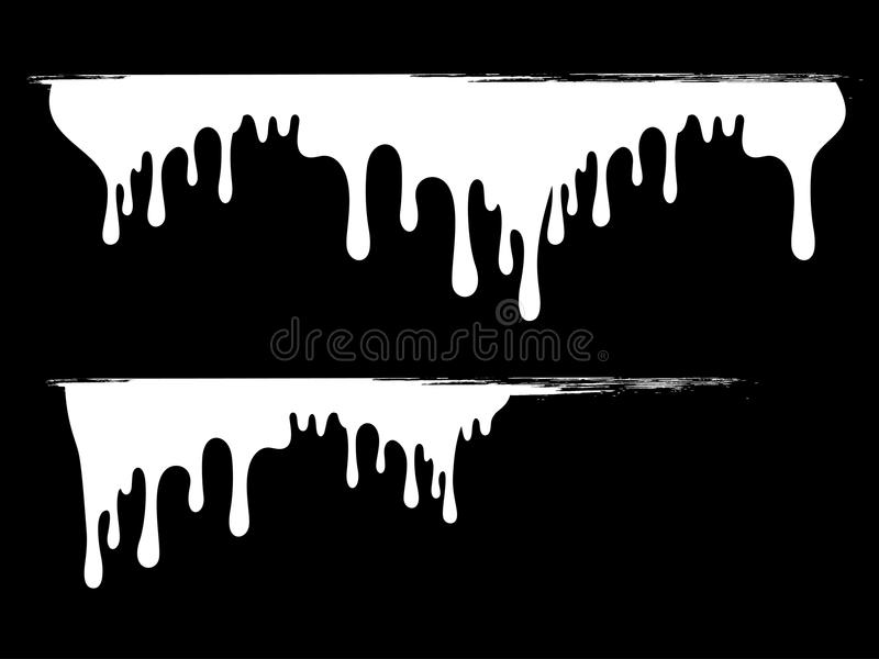 Bright Ink Splat Dropping Design With Grunge Royalty Free Stock Photos