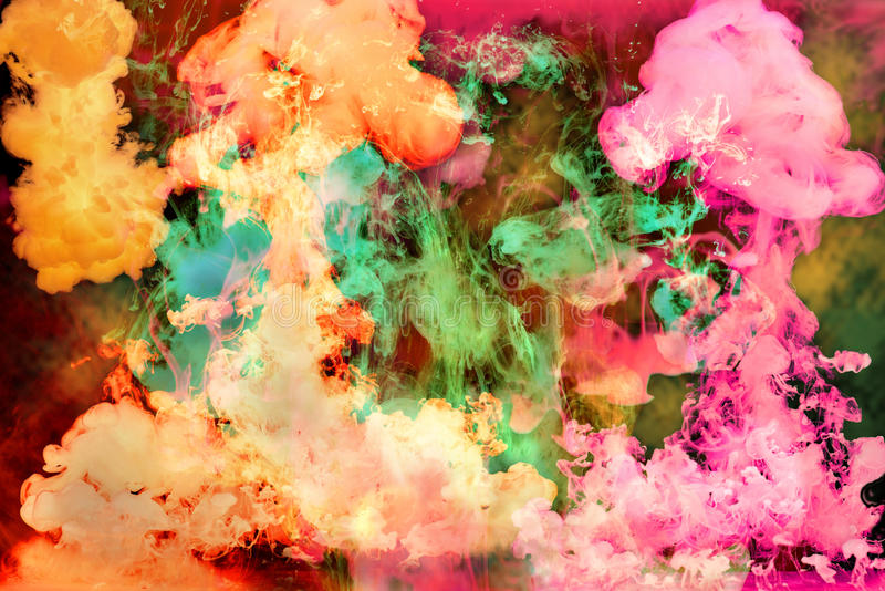Bright Inks in Water royalty free stock photos