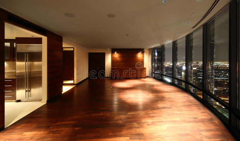 Bright interior of living room royalty free stock photography