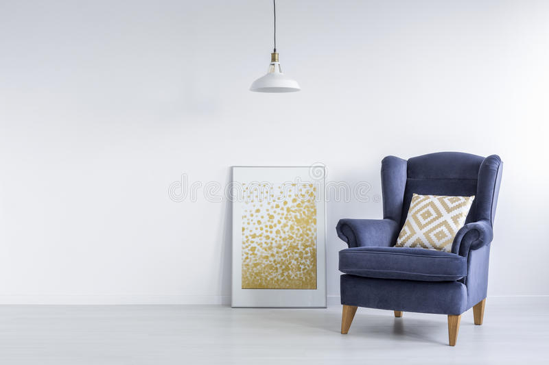 Bright interior with modern poster royalty free stock images