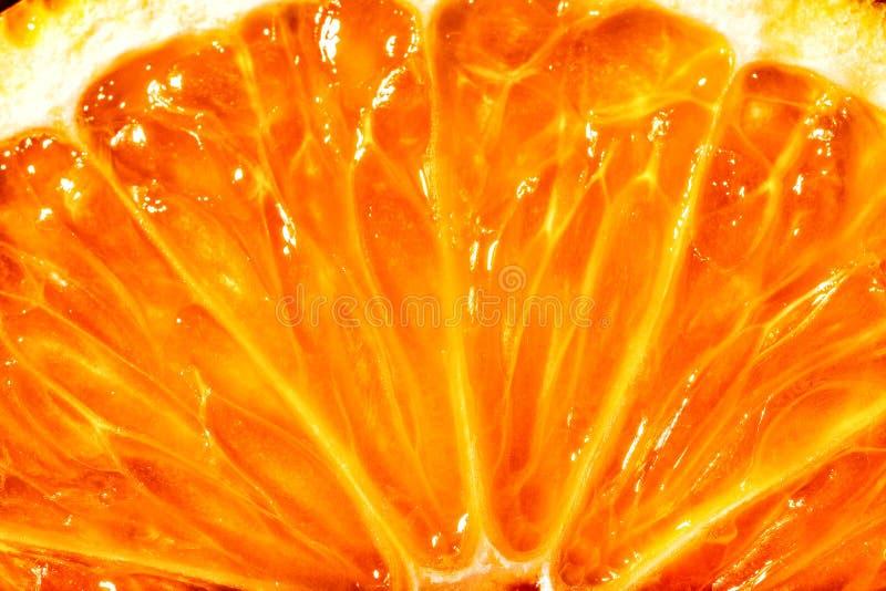 Juicy orange citrus. Bright juicy citrus pulp close-up royalty free stock photography