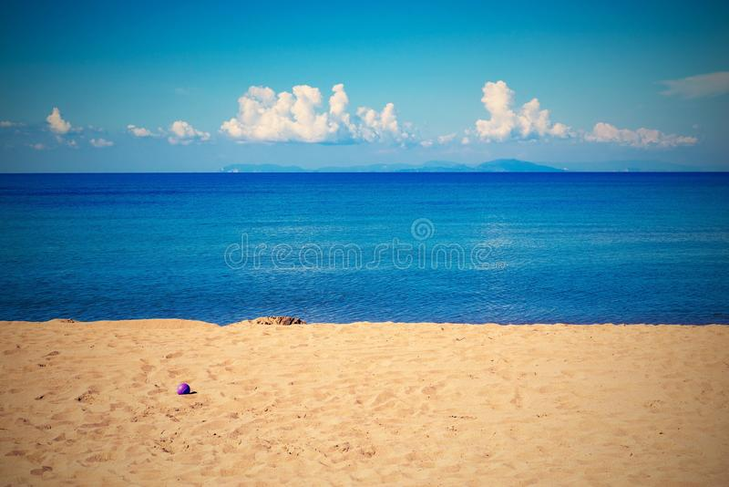 Bright landscape of the sea coast and sky with horizon. Bright landscape of the sea coast and sky with the horizon in retro style for a natural background or for stock photography