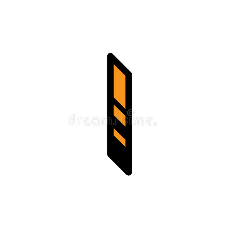 Bright letter I. Vector. Linear, contour letter. Isometry, 3D. Colored flat letter. Logo, company sign. Icon for interior and T- stock illustration