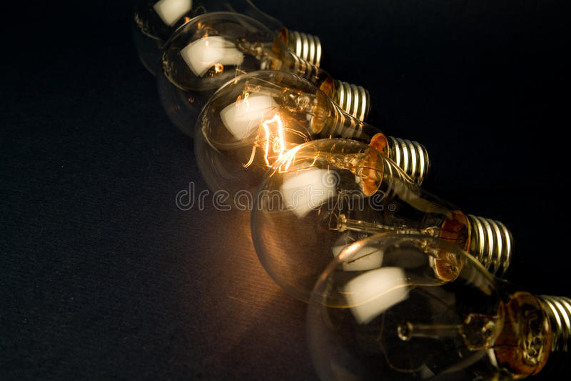 Bright Light Bulb royalty free stock photos