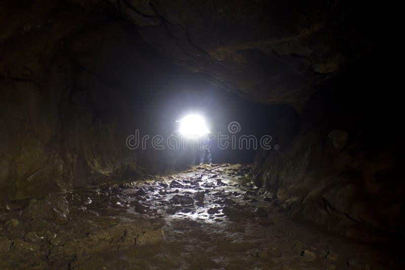 Download Bright Light Inside Lava Tube Cave Lighting Floor Stock Photo - Image of headl& & Bright Light Inside Lava Tube Cave Lighting Floor Stock Photo ...
