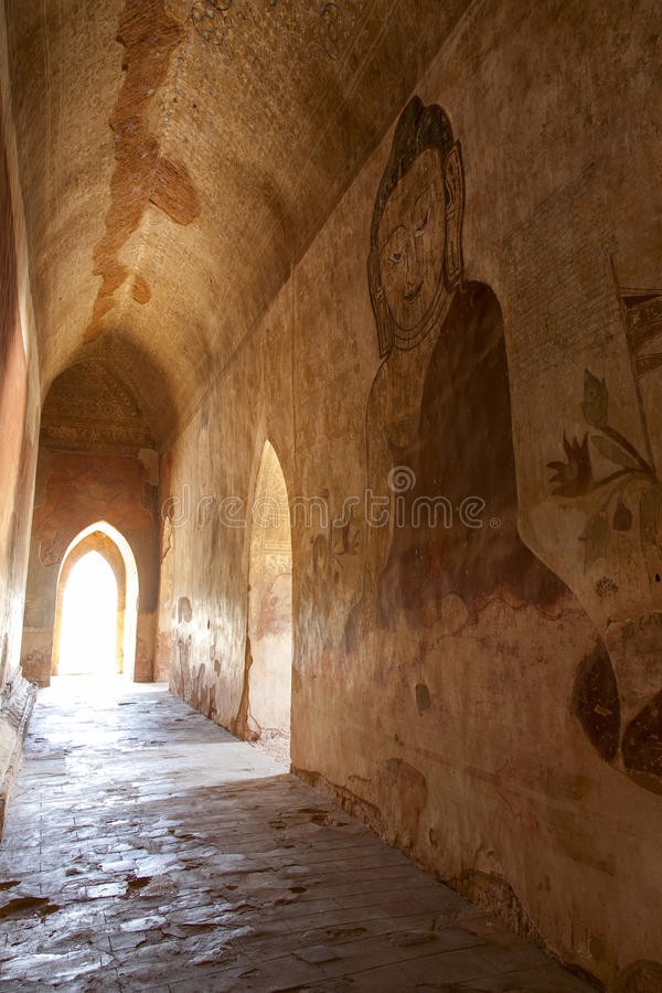 Download Ancient Murals in Hallway stock photo. Image of buddhist - 29865466