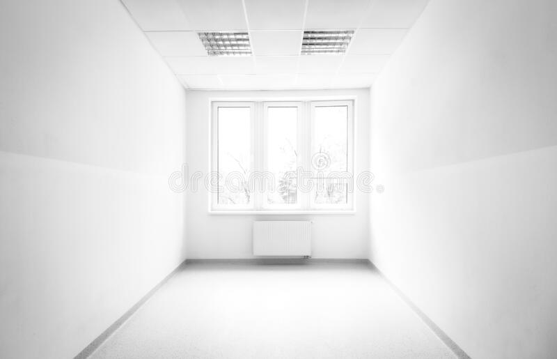 Bright light from window in white room royalty free stock images