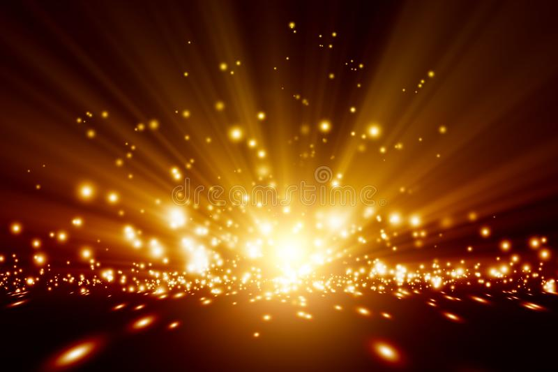 Bright lights. Abstract background - bright orange lights stock illustration