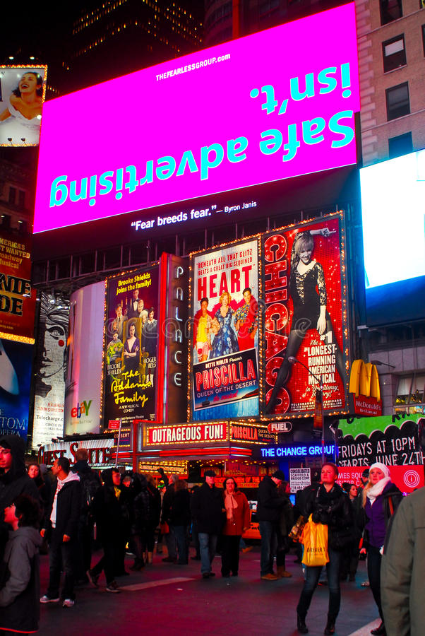Bright Lights of Times Square, NYC.