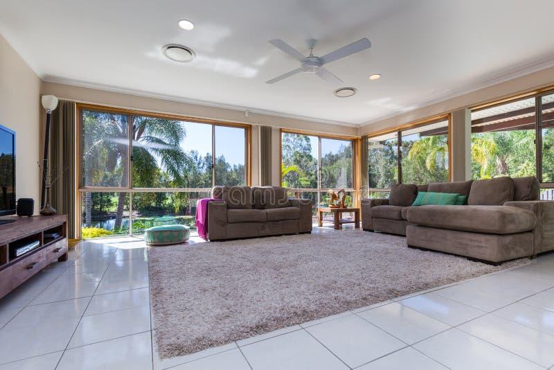 Bright living room stock image